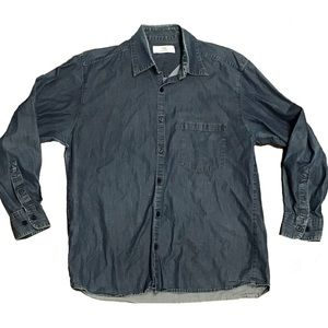 St Michael Marks & Spencer denim button up shirt